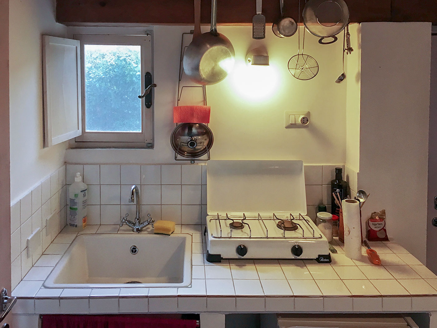 Kitchenette and sink